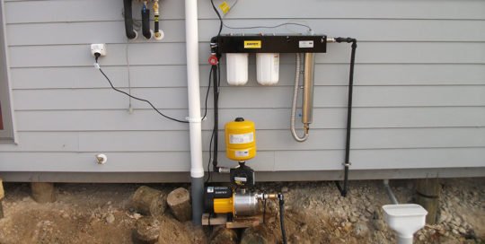 UV system and pump – Domestic water supply